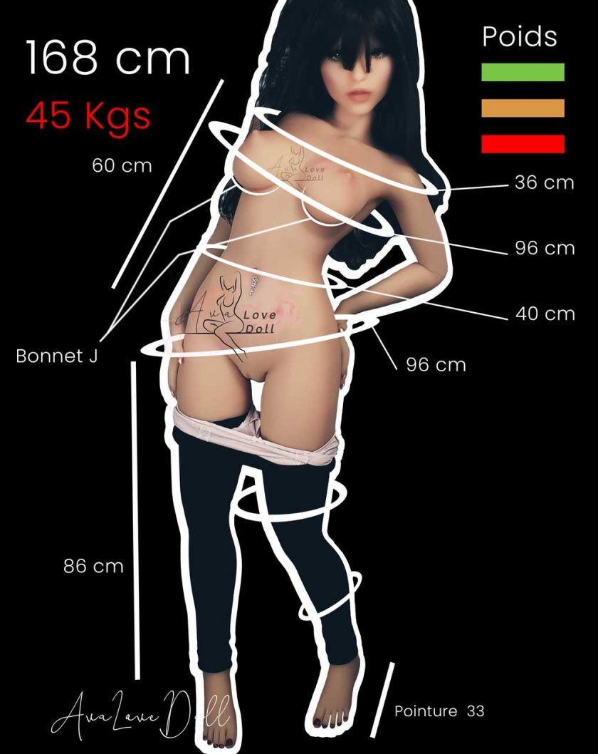 Mensurations 6YE Premium Tête 40 168 cm Bonnet J Angelina