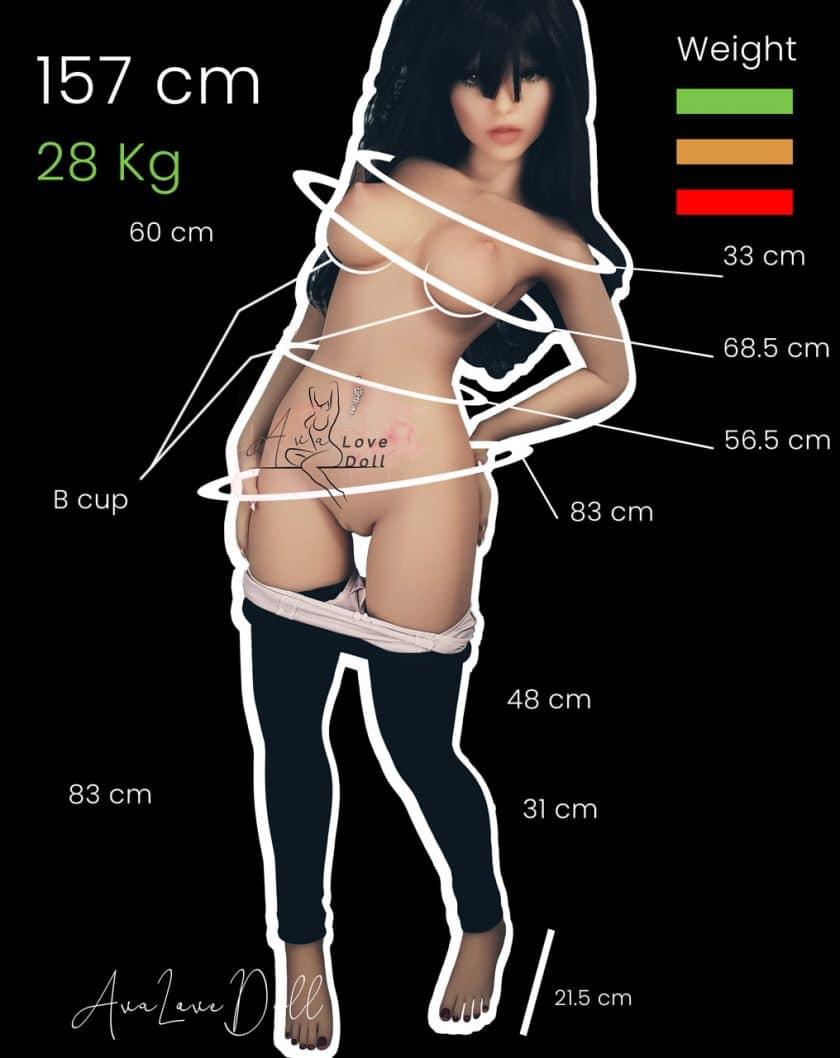 Measurments-WM-Doll-157-cm-B-Cup